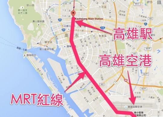 高雄駅マップ