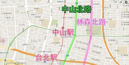 台北 中山マップ