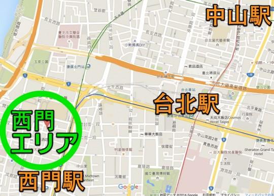 台北 西門マップ