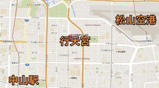 行天宮マップ