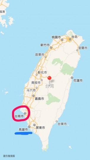 台南の場所