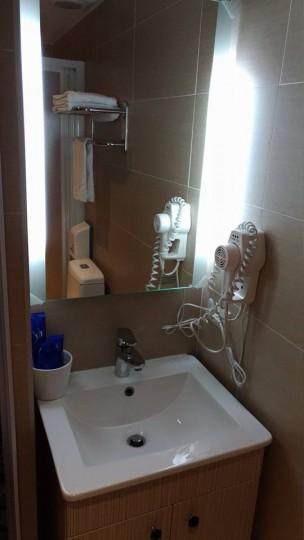 台北Mホテルの洗面所