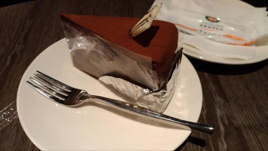 カインドネスホテル・カフェのチョコレートケーキ