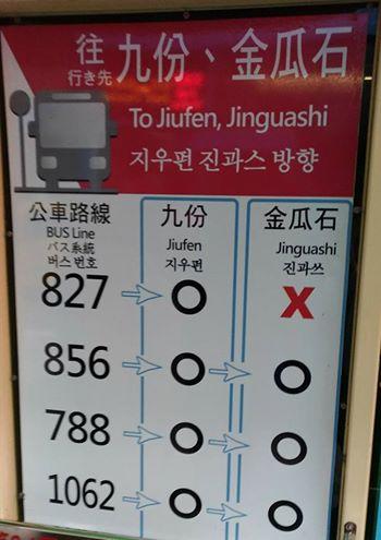 瑞芳駅から九份へ向かうバス