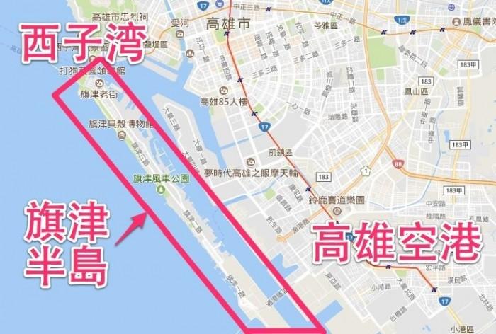 旗津半島 地図