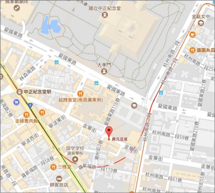 鼎元豆漿 地図